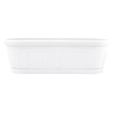 Вазон балконный «Николь» с подставкой 50*19 см 9 л (белый) Алеана 112092