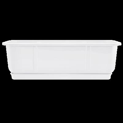 Вазон Дама балконный с подставкой 50*18 см 9 л (белый) Алеана 112031