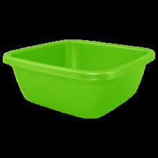Таз квадратный 9 л (светло-зеленый) Алеана 121043