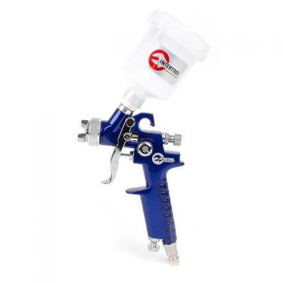 Краскораспылитель (пистолет) пневматический бачок 125 мл Intertool Hvlp мини 0.8 мм PT-010