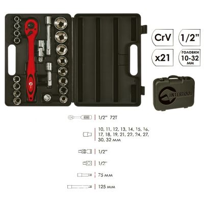 Набор инструмента 21ед INTERTOOL ET-6021