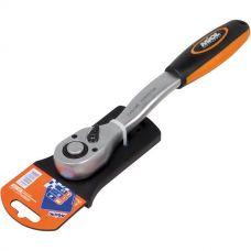 Ключ трещоточный с реверсом 72 зубца 3/8 Миол 58-210
