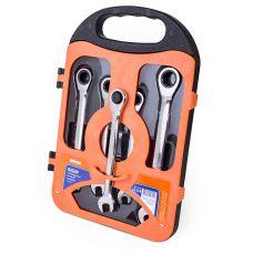Набор комбинированных ключей с трещеткой 72 зубца, 5 предметов Миол 52-250