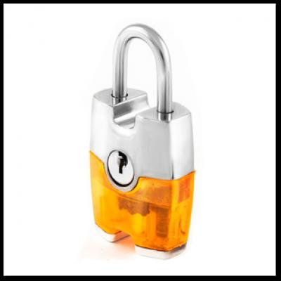 Навесной замок для чемодана с ключом Авантек H10 Прозрачный