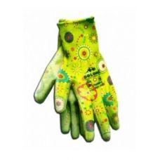 Перчатки зеленые нейлон полиуретан неполный гладкий облив Doloni 4547