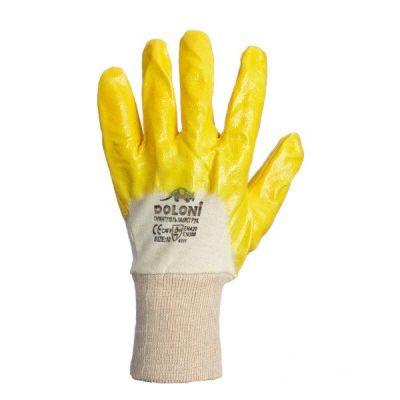 Перчатки  с нитриловым частичным покрытием желтые Doloni 4523