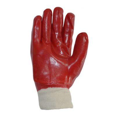 Перчатки  с ПВХ покрытием красные Doloni 4518