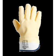 Перчатки с  латексным покрытием бежевые Doloni 4500