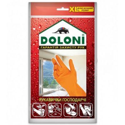 Перчатки хозяйственные латексные  Doloni XL 4563
