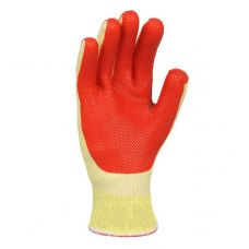 Перчатки с двухслойным обливом латексным покрытием красные Doloni 4565