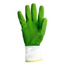 Перчатки с двухслойным обливом латексным покрытием зеление Doloni 4526