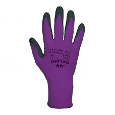 Перчатки фиолетовые с латексным покрытием Doloni 4151