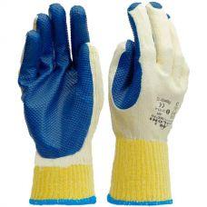 Перчатки с двухслойным обливом латексным покрытием Doloni 4502