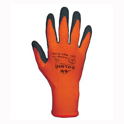 Перчатки  оранжевые с латексным покрытием Doloni 4159