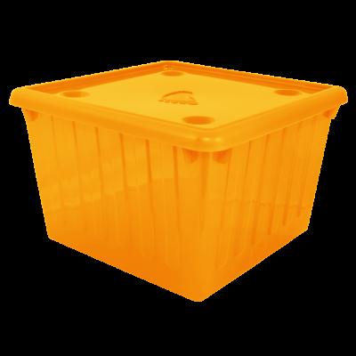 Емкость для хранения вещей с крышкой 25 л (тёмно-розовый) Алеана 122043