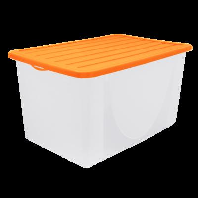 Емкость для хранения вещей с крышкой 9,6 л (оранжевый) Алеана 122041