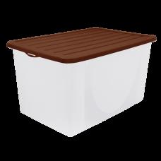 Емкость для хранения вещей с крышкой 9,6 л (тёмно-коричневый) Алеана 122041