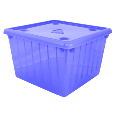 Емкость для хранения вещей с крышкой 25 л (фиолетовый прозрачный) Алеана 122043