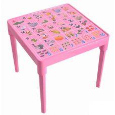 Стол детский Абетка англійська (розовый) Алеана 100028