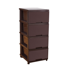 "Комод ""Ротанг"" 39,5*46,5*95,5 см (тёмно-коричневый) Алеана 123094"