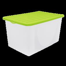 Емкость для хранения вещей с крышкой 22 л (оливковый) Алеана 122042