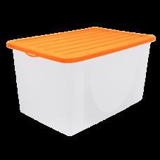 Емкость для хранения вещей с крышкой 22 л (оранжевый) Алеана 122042
