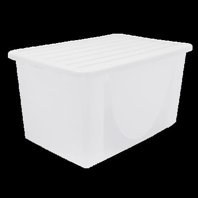Емкость для хранения вещей с крышкой 22 л (прозрачный) Алеана 122042