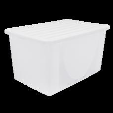 Емкость для хранения вещей с крышкой 6 л (прозрачный) Алеана 122040