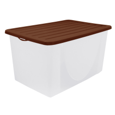 Емкость для хранения вещей с крышкой 6 л (тёмно-коричневый) Алеана 122040
