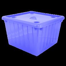 Емкость для хранения вещей с крышкой 25 л (голубой) Алеана 122043