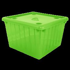 Емкость для хранения вещей с крышкой 25 л (оливкой) Алеана 122043