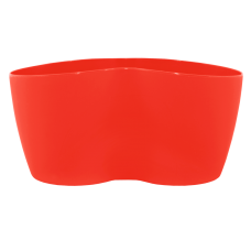 Вазон кактусник 2 растения 18*10,5*9 см 0,9 л (красный) Алеана 113052