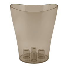 """Вазон для орхидей """"Ника"""" 16*19 см 2 л (коричневый прозрачный PS) Алеана 114051"""