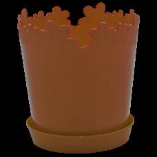 """Вазон """"Лютик"""" с подставкой 13*13,8 см 0,9 л (бронзовый) Алеана 115000"""