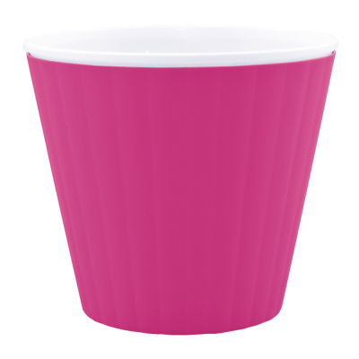 Вазон «Ибис» с двойным дном 17,9*14,7 см 2,3 л (тёмно-розовый/белый) Алеана 114036