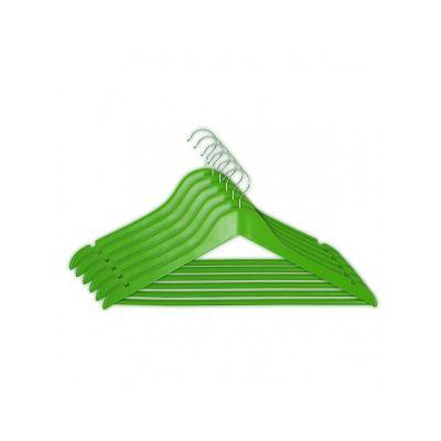 Вешалка EVERYDAY, ТМ МД, одежная, зеленая,44,5 х 23 х 1,2 см (6 шт)