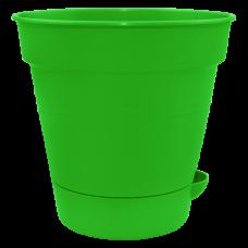 "Вазон с поливом ""Глория"" 12*11,5 см 0,7 л (светло-зеленый) Алеана 114020"