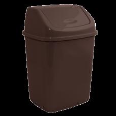 Ведро для мусора 10 л (тёмно-коричневый) Алеана 122063