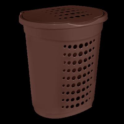 Корзина для белья 60 л (тёмно-коричневый) Алеана 122053