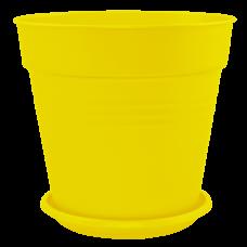 Вазон с подставкой «Глория» 11*10,5 см 0,6 л (тёмно-жёлтый) Алеана 114015
