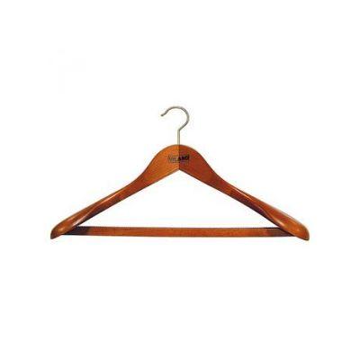 "Вешалка д/тяж. одежды с рез.лентой на перекл. ""вишня"", 43,0 х 6,5 см, VILAND"