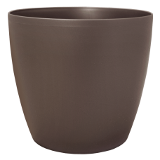 Вазон «Матильда» с поливом и дренажом 12*11 см 0,9 л (мокко-глиттер) Алеана 114092
