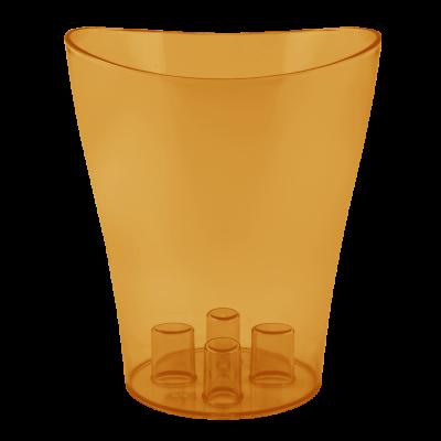 """Вазон для орхидей """"Ника"""" 13*15,5 см 1 л (янтарный PS) Алеана 114050"""