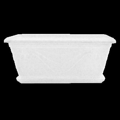 Вазон балконный «Петуния» 40,5*22*18 см 8 л (белый флок) Алеана 113034