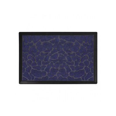 Коврик придверный с узором камушки синие, полипропилен,ТМ МД, 40*60 см