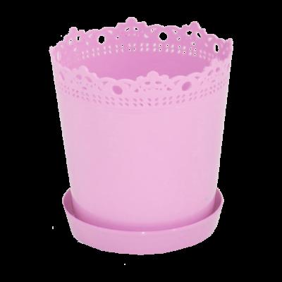 """Вазон """"Ришелье"""" с подставкой 17*17,5 см 2 л (розовый) Алеана 115003"""