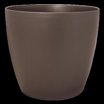 Вазон «Матильда» с поливом и дренажом 24*22 см 7,6 л (мокко-глиттер) Алеана 114095