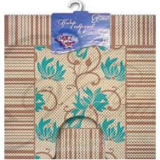 Набор ковриков бежевый V-Line 6833-бежев