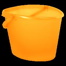 Ведро сердцевидное 10 л (оранжевый прозрачный) Алеана 122021