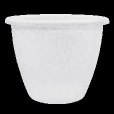 Вазон «Верона» 13*10 см 0,7 л (белый флок) Алеана 112017